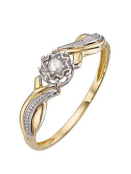 love-diamond-9-carat-yellow-gold-5-point-diamond-twist-shoulder-ring