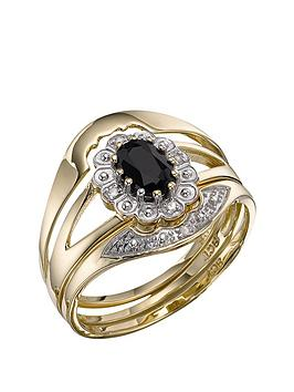 love-gem-9-carat-yellow-gold-sapphire-and-diamond-bridal-set