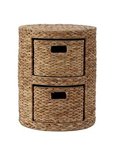Arrow Weave Wicker Chest Natural