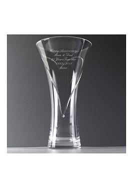 b46440c3cd Personalised Hand Cut Heart Vase with Swarovski Crystal Elements |  littlewoodsireland.ie