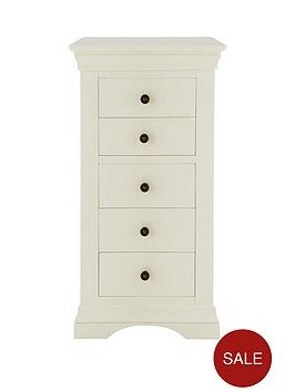 ideal-home-constance-ready-assembled-narrow-chest-of-5-drawers