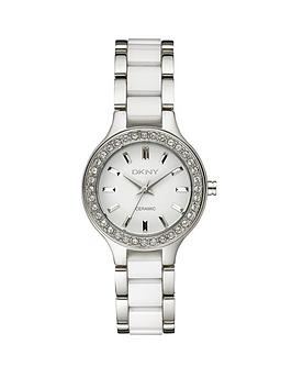 dkny-chambers-white-ceramic-and-stainless-steel-ladies-watch