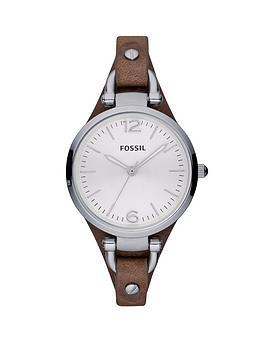 fossil-georgia-tan-leather-strap-ladies-watch