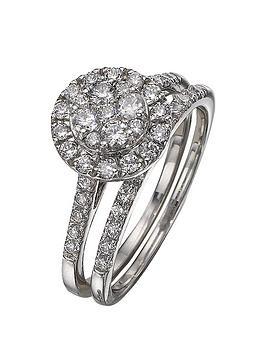 love-diamond-9-carat-white-gold-100pt-diamond-bridal-set