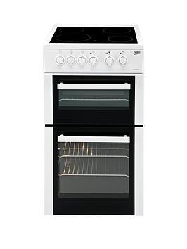 beko-bdc5422aw-50cm-twin-cavity-electric-cooker-white