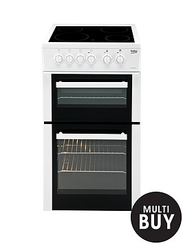 beko-bdc5422aw-50cm-twin-cavity-electric-cooker-white
