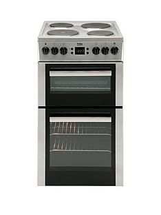 beko-bdv555as-50cm-double-oven-electric-cooker-silvernbsp