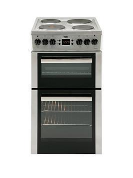 beko-bdv555as-50cm-double-oven-electric-cooker-silvernbsp