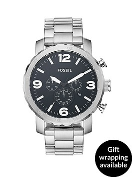 fossil-nate-black-dial-stainless-steel-mens-watch