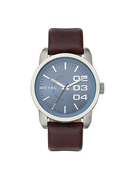 diesel-double-down-46-brown-leather-strap-mens-watch