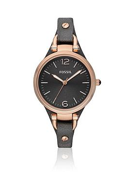 fossil-georgia-rose-gold-bezeland-grey-leather-strap-ladies-watch