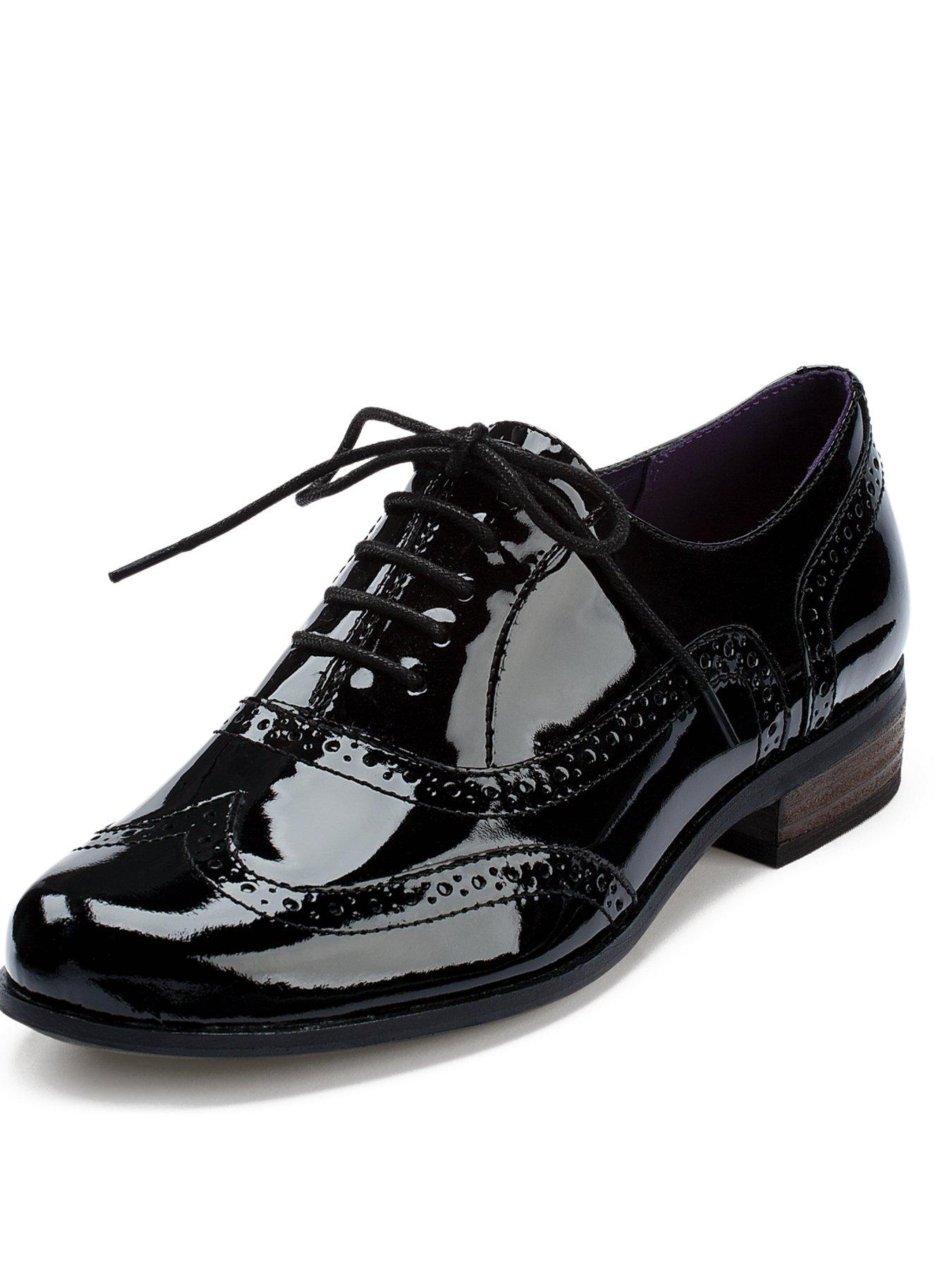 2ae6e41fd Cost Clarks Hamble Oak Leather Brogues Womens Shoes   Boots Womens Footwear  COLOUR-black leather
