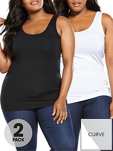 v-by-very-curve-longline-vests-2-pack