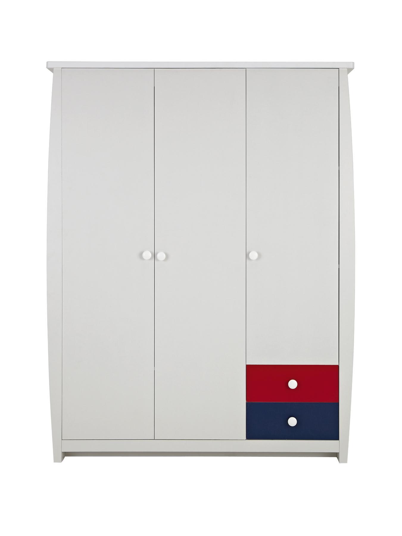 Ladybird Orlando Fresh 3 Door, 2 Drawer Kids Wardrobe