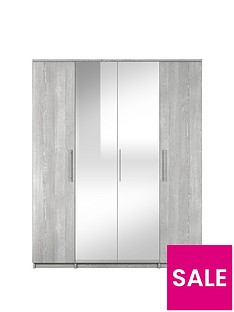 home-essentials--nbspprague-4-door-mirrored-wardrobe