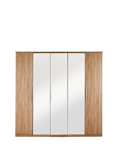 home-essentials--nbspprague-5-door-mirrored-wardrobe