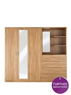 peru-3-door-4-drawer-mirrored-combi-wardrobe