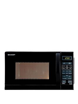 sharp-r662km-800-watt-microwave-with-grill-black