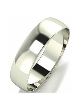 love-gold-9-carat-white-gold-d-shape-wedding-band-5mm-with-optional-personalisation