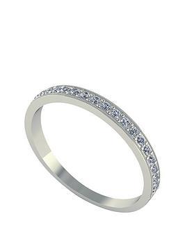 moissanite-18-carat-white-gold-25pt-wedding-band