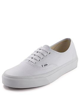 vans-authentic-junior-core-plimsolls-white
