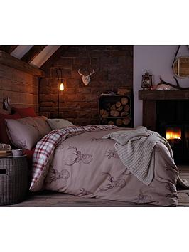 catherine-lansfield-stag-cotton-rich-duvet-cover-set