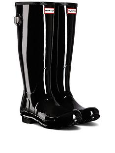 hunter-tall-matt-wellies-black