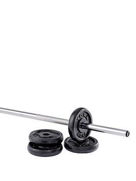 york-4-x-25kg-black-cast-iron-1-inch-plates