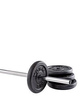 york-4-x-5kg-black-cast-iron-plates