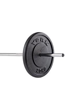 york-1-x-20kg-black-cast-iron-1-inch-plates