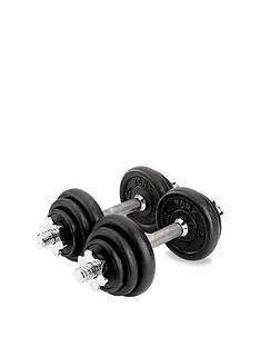 york-15kgnbspcast-iron-dumbbell-set-black