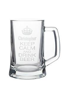 personalised-keep-calm-glass-tankard