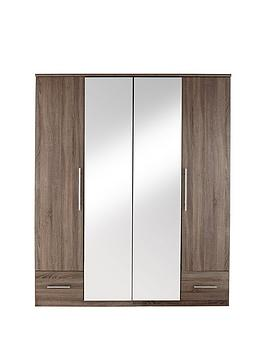 cologne-4-door-2-drawer-mirrored-wardrobe
