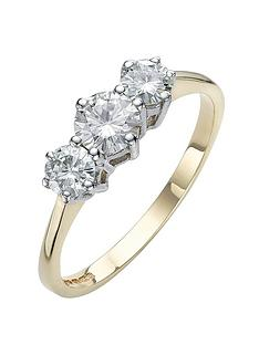 moissanite-9-carat-yellow-gold-1-carat-trilogy-ring