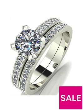 moissanite-9-carat-white-gold-14-carat-two-piece-bridal-set