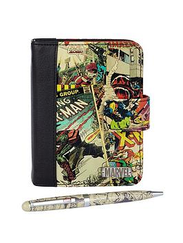 marvel-retro-comic-organiser-and-pen-set-2-piece