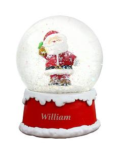 personalised-santa-snowglobenbspchristmasnbspdecoration