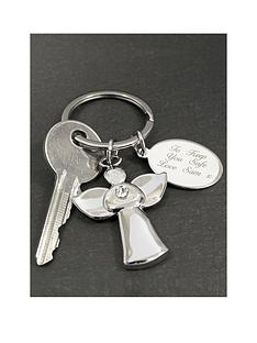 the-personalised-memento-company-personalised-silver-angel-keyring