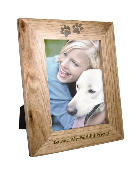 the-personalised-memento-company-personalised-6x4-pet-print-wooden-photo-frame