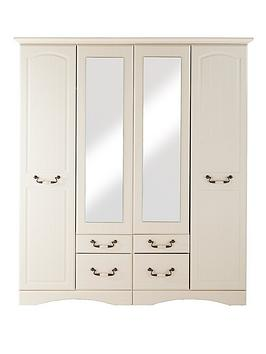 consort-new-avanti-4-door-4-drawer-mirrored-wardrobe-vintage-white