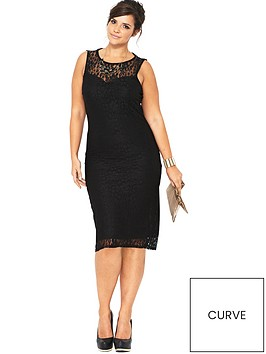 V by Very Curve Lace Midi Dress (Available in sizes 14-28 ...
