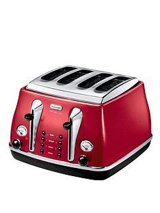 delonghi-ctom4003-1800-watt-micalite-icona-4-slice-toaster-red