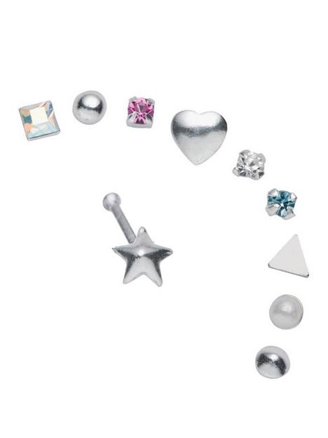 the-love-silver-collection-sterling-silver-nose-set-set-of-10