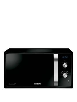samsung-ms23f301eak-23-litre-800-watt-solo-microwave-with-ceramic-enamel-interior-and-2-year-samsung-parts-and-labour-warranty-black