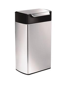 simplehuman-40-litre-touch-bar-bin-brushed-steel