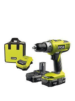 ryobi-llcdi18022-18v-one-cordless-combi-drill-starter-kit-2-x-13ah