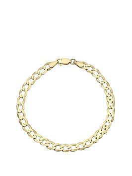 love-gold-9-carat-yellow-gold-solid-diamond-cut-8-inch-curb-bracelet