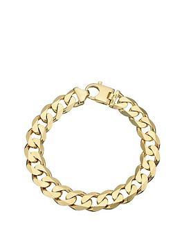 9-carat-yellow-gold-approx-2oz-solid-diamond-cut-curb-bracelet
