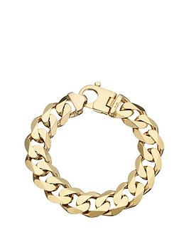 love-gold-9-carat-yellow-gold-approx-3oz-solid-diamond-cut-curb-bracelet
