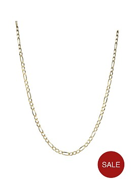 love-gold-9-carat-yellow-gold-solid-diamond-cut-figaro-18-inch-chain